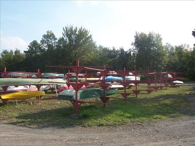Non-Motor Boats Available for Rent At The Marina Of Towamensing Trails