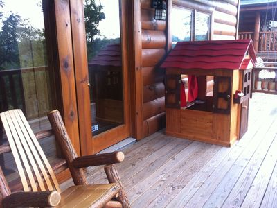 Sevierville cabin rental - Enjoy watching your kids play in the NEW Cabin like PLAYHOUSE!