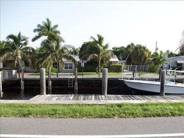 Boat Dock in front of home
