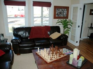 Living room/game room with nice leather couches - Colorado Springs house vacation rental photo