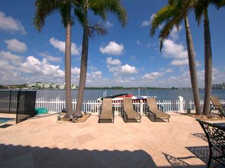 Miami Beach house photo - The view of the terrace overlooking the bay