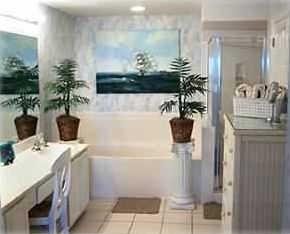 Master Bathroom with Garden Tub & Separate Shower Family Vacation Rental