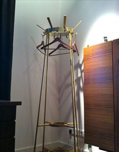 Brass mid century clothing rack