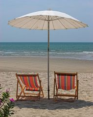 Sanibel Island condo photo - Comfortable Beach Chairs and Umbrella