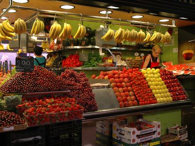 The Boqueria Market - Fresh Fruits all year long
