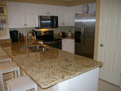 All new stainless appliances, large 25 cf fridge with ice and water through door