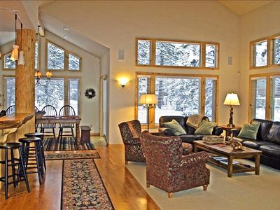 Ponderosa Great Room features tall timbers, spacious and open floor plan