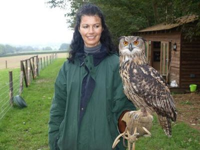 Wealden farmhouse rental - Bird handling - 'Titch' the owl