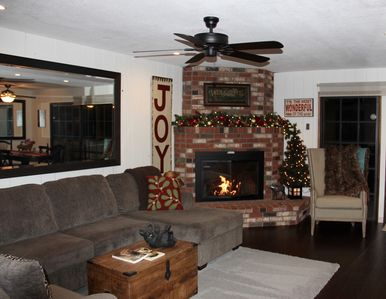 Near Santa's Village!  Great 4 bd located on Village Bay.  Let it snow.