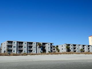Crescent Beach condo photo - Condo from the beach. Our unit is the far-left, top floor, facing the ocean.