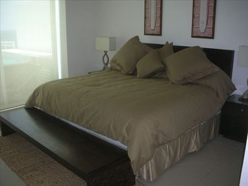 King sized bed in Master suite with premium mattress
