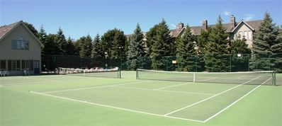 Tennis Courts adjacent to swimming pool