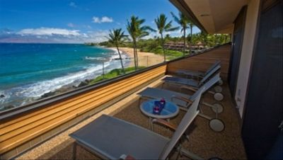 Makena Surf F308 Lanai with Ocean Front Views