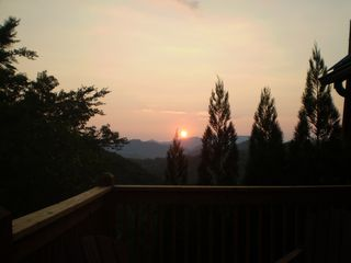 Wears Valley cabin photo - Sunset from the upper deck