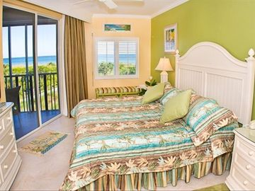 Master bedroom overlooking the Gulf of Mexico