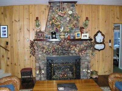 Clark Lake Living Room Fire Place
