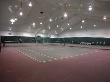 2 Regulation-Size Indoor Tennis Courts, Indoor Racquetball Crt, Fitness Center
