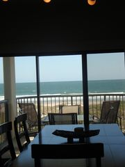 Wrightsville Beach condo photo - Gorgeous ocean views from the Dining Area ~ eat a meal and enjoy your view!