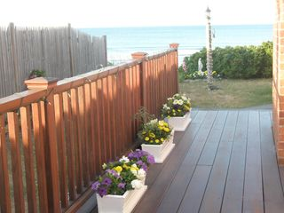 Marshfield cottage photo - Side Deck