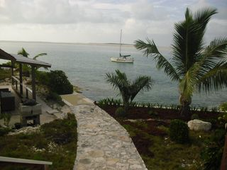 Great Exuma cottage photo - View South and charcole BBQ from the balcony