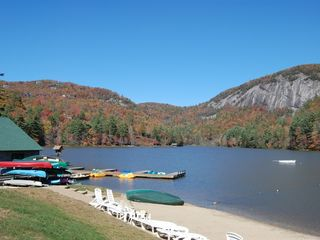 Cashiers house photo - Surrounding Area: Lake offers boat rentals and hiking trail with waterfall