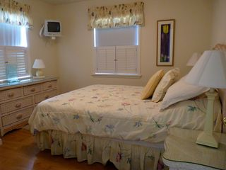Slaughter Beach house photo - Comfortable queen bedroom with with views of the Prime Hook Wildlife Preserve