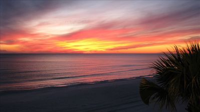View South From Balcony, The End of Another Perfect Day At Beach Paradise!