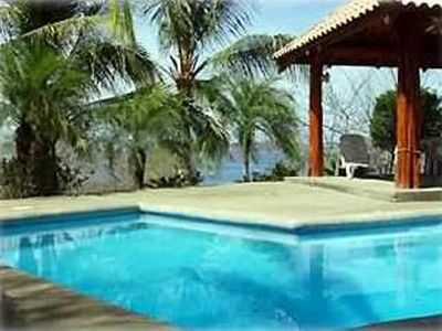 Playa Flamingo house rental - Even the pool has an ocean view...
