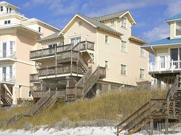 Seagrove Beach house rental - A View of Dolphin Watch from the ocean