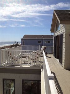 Ocean front Deck off 2nd floor master bedroom, family room and 2nd bedroom