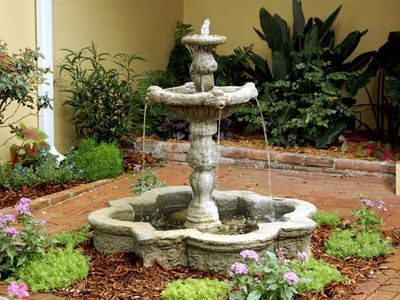 Listen to the soothing fountain during your stay
