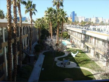 "Las Vegas apartment rental - See The Las Vegas ""Strip"" in the background- Walk to it and steps to HardRock"