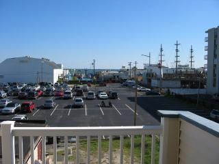 View from deck of boardwalk and ocean