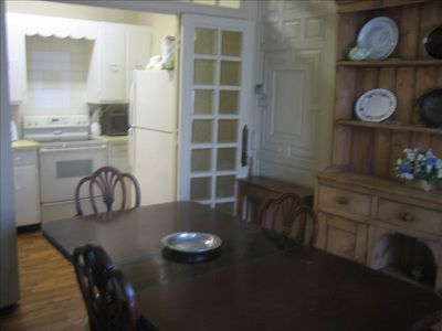 Great Barrington house rental - Dining room and kitchen