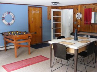 Oscoda house photo - The game room; bumper pool, air hockey, & foosball