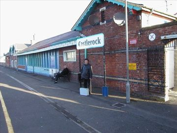 Castlerock railway station on line from Belfast to Derry.