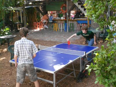 300 steps from this condo is ping pong at Blue Heaven restaurant.