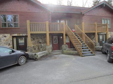 Snowshoe Mountain studio rental - First level condo. No hauling luggage and equipment up and down stairs.