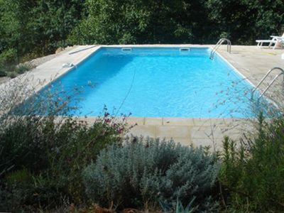 The (salted) 10m x 5m pool and terrace.