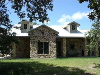 Front of Hill Country Home