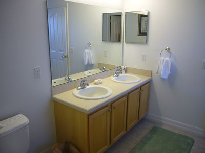 King Master Bathroom His & Her Vanities