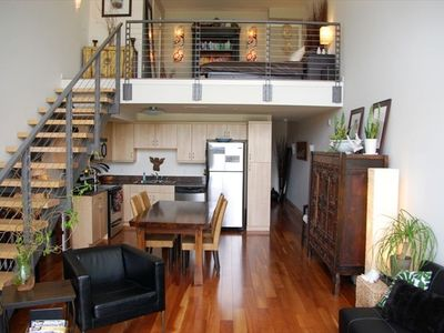 Open Loft with Gorgeous Wood Floors