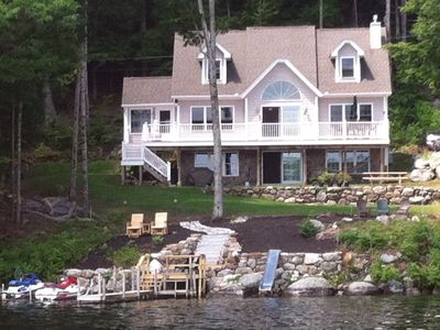 Lake Winnisquam house rental - View of house from the lake.