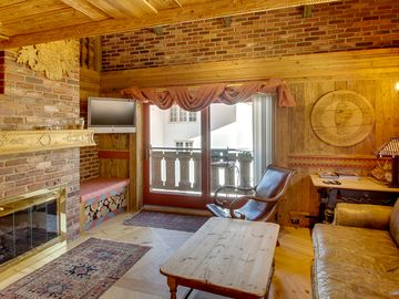 Vail Mountain View Residences condo rental - European Styled Hearth Room
