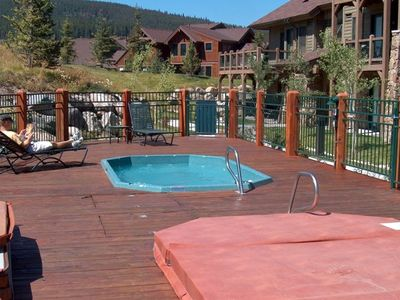 2 ten-person hot tubs right out your back door!