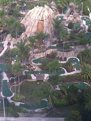 Lake Buena Vista condo photo - Volcano mini golf down below!
