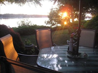 enjoy dinner on the patio while  you watch the sunset