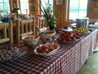 Deer Isle - Stonington lodge photo - Chef Kathy Babson's handiwork for a family staying on Spruce Island