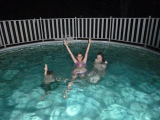 Hampton Bays house photo - night swim!