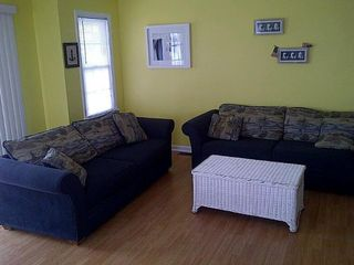 Living room. Freshly painted, ready for you to enjoy a week at the shore! - Wildwood condo vacation rental photo